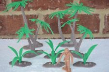 NEW MARX PALM TREES AND BUSHES 54 MM 1/32 SCALE JUNGLE PLAYSET TOY SOLDIERS WWII
