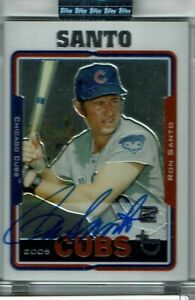 Ron Santo HOF auto 2005 Topps Retired Signature Edition Uncirculated Sealed