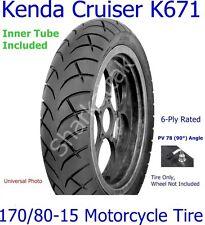 170 80 15 Rear Kenda Cruiser K671 Motorcycle Tire w/ PV78 (90°) Inner Tube