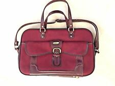 VERDI LAPTOP BAG LUGGAGE TRAVEL CARRIER RED ZIPPERED WITH HANDLES