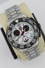 Tag Heuer CAC1111.BA0850 Formula One White Chronograph Watch Mens Black Red EUC