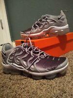 Men's Nike AIR VAPORMAX PLUS Wolf Grey / Black Running Shoes (924453-007) Sz 12