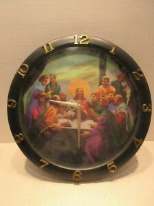 Jesus Last Supper with Apostles Quartz Wall Clock 11 inch Religious Collectible