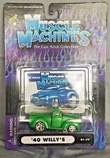 Muscle Machine '40 WILLYS PICKUP HOOD SCOOP Green 01-77 1:64