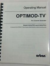 Orban Optimod TV Operating Manual