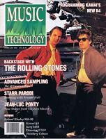 1990 JEAN-LUC PONTY, Rolling Stones, Korg M3R, Rhodes MK-80 MUSIC TECHNOLOGY MAG