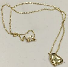 Tiffany & Co. Elsa Peretti Full Heart 18k Yellow Gold Necklace 16""