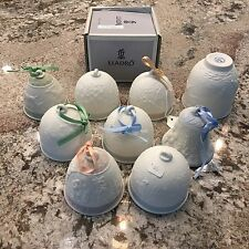 9 lladro bell, cup , collection 1988, 91, 93, 94, 98