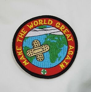 Make The World Great Again Badge / Patch Scouts Girl Guides Camp Blanket Trump