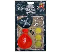 Boys Pirate Set - Eye Patch, Coins & Earring - Party Costume Stocking Filler Toy