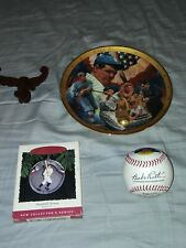 "*Babe Ruth* ""The Sultan of Swat""  Royal Doulton Plate* w/Ornament & Baseball Lot"