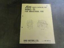 Hino H06C-T1 Parts Catalog Manual Book    H0-4010-E