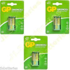 3 x GP GREENCELL 9 V Piles MN1604 6LR61 bloc PP3 6F22 Extra Heavy Duty