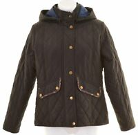 BARBOUR Girls Quilted Jacket 13-14 Years Navy Blue Polyester  FK04