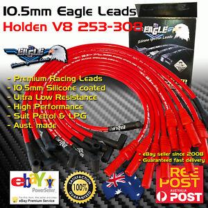 EAGLE 10.5mm Ignition Spark Plug Leads Fits Holden V8 308 Around Valve Cover RED