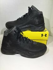 Under Armour UA Curry 2.5 Mens Sz 9 Black Basketball High Top Sneakers X1-181