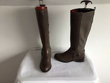 NEXT BROWN LEATHER KNEE HIGH BOOTS SZE UK 4 (37)