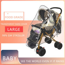 Baby Stroller Cover Transparent Waterproof Buggy Pram Pushchair Rain Cover Vent