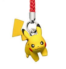 Pokemon GO Pikachu Netsuke Cell Phone Strap Figure Toy Black White Movie Tomy