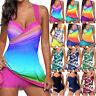 Plus Size Women Sport Tankini Set Push Up Padded Swimsuit Swimwear Bathing Suit