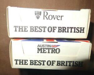 Corgi Juniors Best Of British Rover 3500 & Austin Metro  1981 boxed