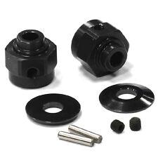 C24395BLACK Integy Billet Hex Wheel Hub Set(2)+3 Offset for Axial Wraith