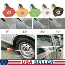 "5Pcs/Set High Pressure Washer Spray Nozzle 1/4"" Car Wash Water Spraying Head USA"