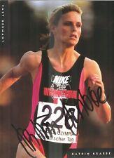 KATRIN KRABBE (Leichtathletik - 100 m) - Originalautogramm !!!