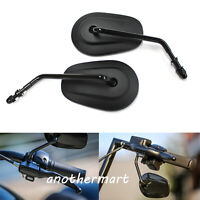 For Motorcycle Harley-Davidson Sportster 883 Black Rearview Side Mirrors Long St