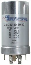 CE Manufacturing Multisection Mallory FP Can Capacitor, 30/30/30/10µf @ 475VDC