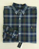 Polo Ralph Lauren Pony Tartan Plaid Oxford Long Sleeve Classic Fit Dress Shirt L
