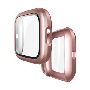 Screen Protector Case Full 360 Protection Bumper Cover for Fitbit Versa 2 Watch