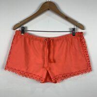 Seafolly Womens Shorts Size Large Orange Elastic Waist Good Condition