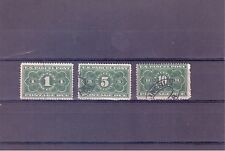 United States Scott # JQ1, JQ3 & JQ4 Parcel Post Postage Due Stamps used