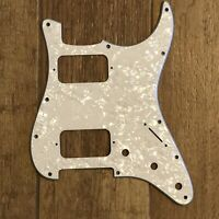 NEW White Pearloid 3 Ply HH Stratocaster PICKGUARD for Fender Strat Humbuckers
