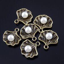 40 Stück Antike Bronze Perle Schale Charms Anhänger Dangle 12x14x6mm 38007