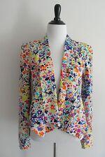JESSICA SIMPSON Jacket XS Extra Small Floral Blazer Winter Jacket Windbreaker