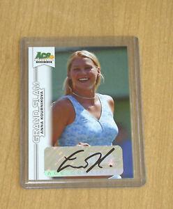 2013 Ace Authentic Grand Slam Tennis autograph auto Anna Kournikova
