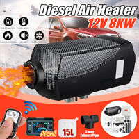 8KW 12V Diesel Air Heater 8000W LCD Thermostat 15L Tank w/Remote Car