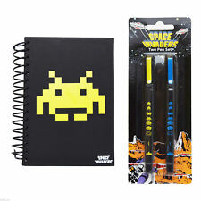 Space Invaders rétro carnet & Stylo Ensemble Fourniture collection
