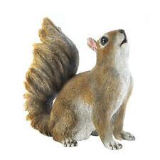 Bushy Tail Squirrel Figurine Yard Porch Garden Patio Lawn Statue Accent Decor