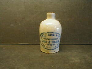 VINTAGE JONES BROS. & CO. CIDER & VINEGAR MINI STONEWARE JUG - LOUISVILLE, KY.