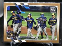 2021 Topps Series 1 GOLD PARALLEL MILWAUKEE BREWERS /2021 TEAM CARD #59