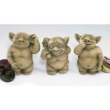 Gothic Troll Like Gargoyle Trio Nasty Pickers Nose Ear Bum Small Statue Set