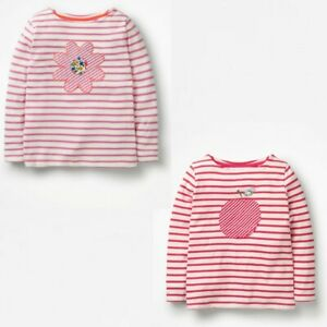 Mini Boden Girls Applique Striped Breton T-Shirt Sizes 2-3 Years to 9-10 Years