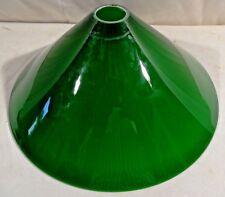 light lamp shade Vintage imperial green glass skirt cone shape white inside rare