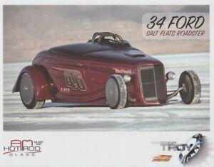 2012 Troy Trepanier AM Hot Rod Glass '34 Ford Salt Flats Roadster SEMA postcard