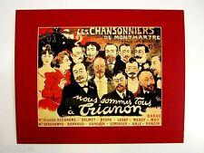 AGE REVUE impression derrière passe-partout Les Chansonniers de Montmartre
