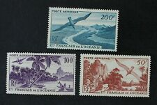 CKStamps: France Stamps Collection French Polynesia Scott#C17-C19 Mint H OG