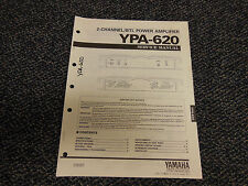 Yamaha YPA-620 Power Amplifier Original Service Manual